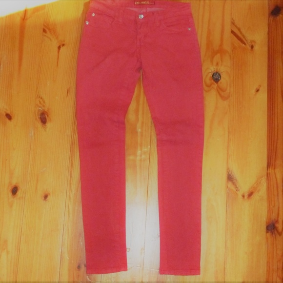 Crunch Pants - Stretchy Red Skinny Jeans COMFY